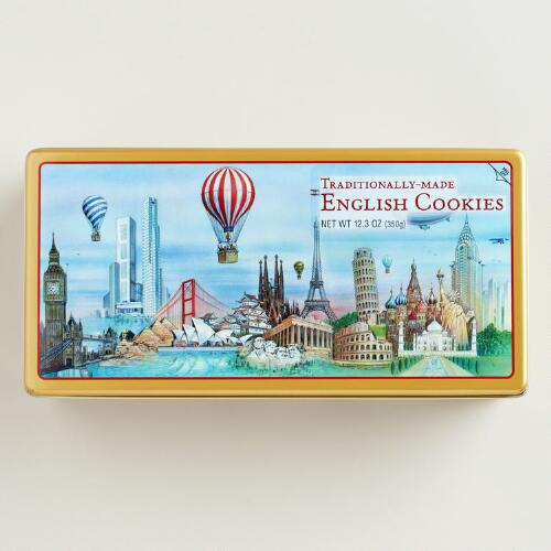 "World Market® ""Around the World"" Assorted Biscuits Gift Tin"