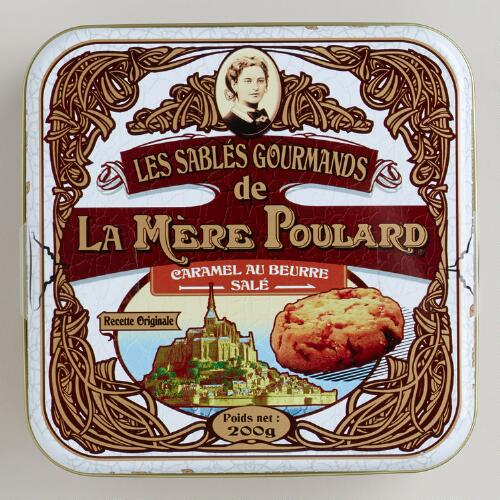 Le Mère Poulard Caramel and Sea Salt Shortbread Tin