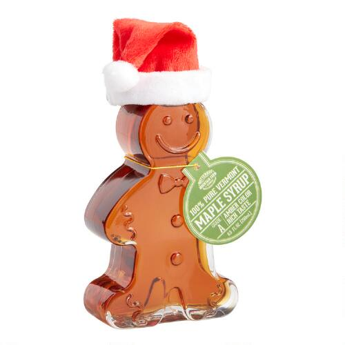 Highland Sugarworks Gingerbread Man Maple Syrup Bottle