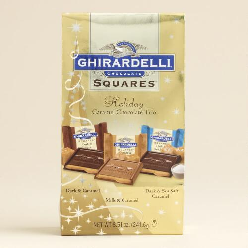 Ghirardelli Chocolate Squares, Holiday Caramel Trio Bag