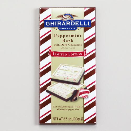 Ghirardelli Peppermint Bark with Dark Chocolate Bar