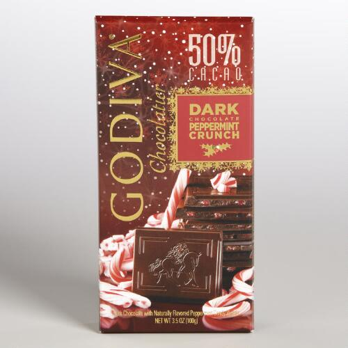 Godiva Peppermint Dark Chocolate Crunch Bar