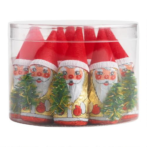 Riegelein Chocolate Santas in Drum