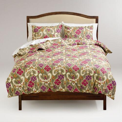 Floral Ikat Sonoma Duvet and Pillow Shams Set