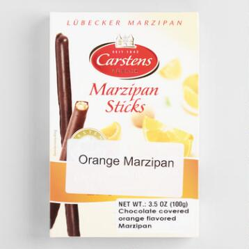 Schluckwerder Orange Marzipan Dark Chocolate Stick, Set of 3