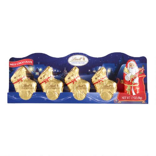 Lindt Mini Santa and Reindeer, Set of 12