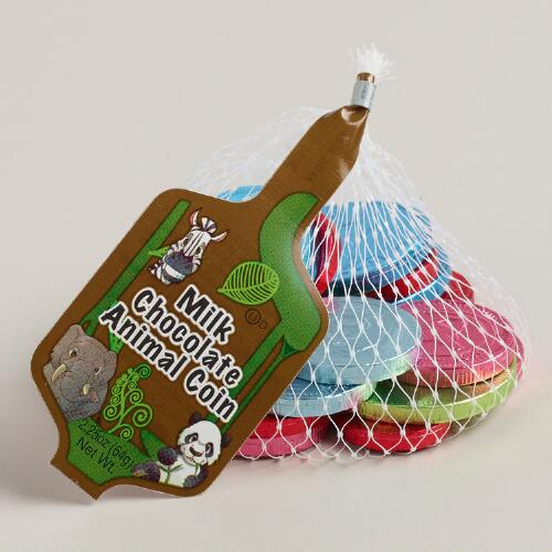 Steenland Mesh Bag of Chocolate Animal Coins