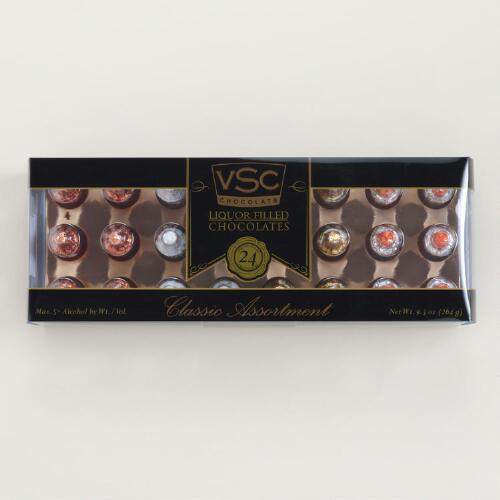 VSC Liquor-Filled Chocolates 24-Count Classic Assortment