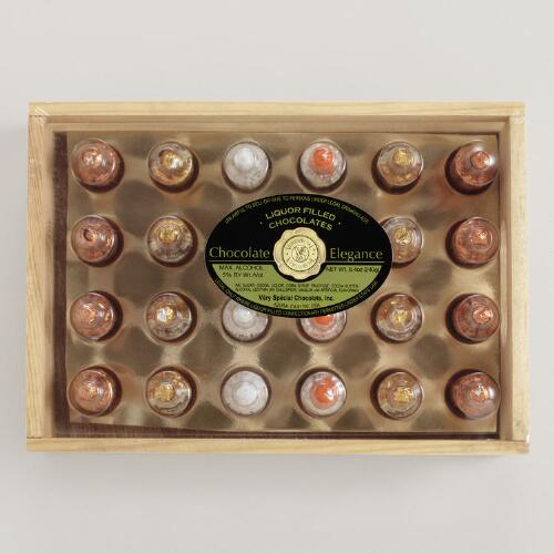 VSC Liquor-Filled Chocolate Crate, 24-Count