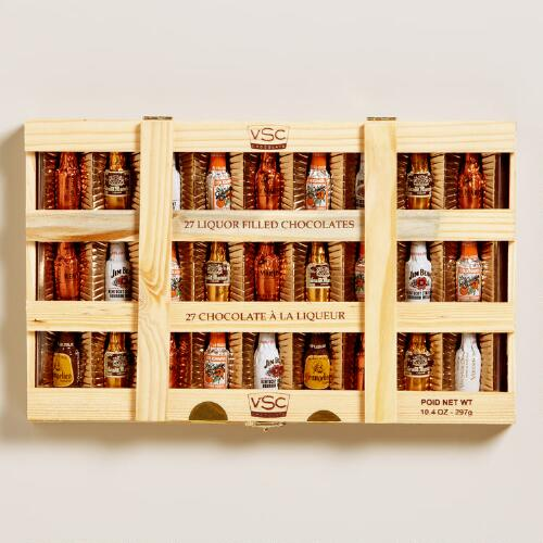 VSC Liquor-Filled Chocolates Crate, 27-Piece