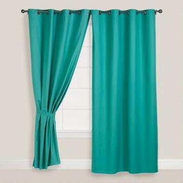 Beryl Green Parker Grommet Top Curtain