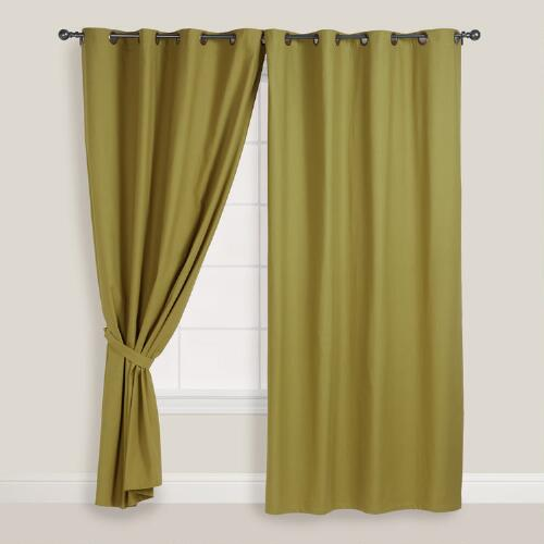 Green Parker Grommet Top Curtain