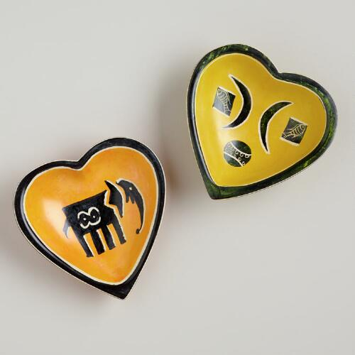 Kisii Soapstone Heart-Shaped Dish