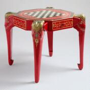 Red Anchita Elephant Game Table