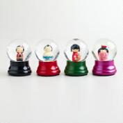 Assorted Japanese Characters Mini Water Globes, Set of 4