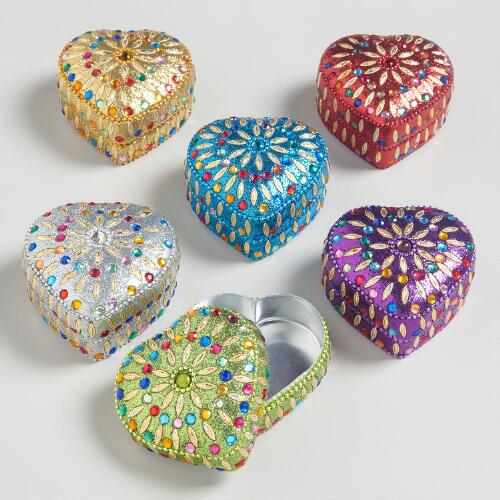 Assorted Heart Shaped Lac Boxes