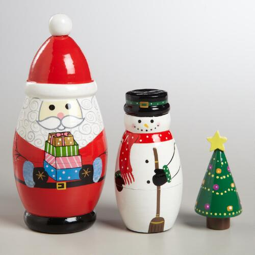 Christmas Nesting Dolls, Set of 3