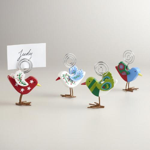 Alpine Bird Holiday Cardholders, Set of 4