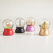 Mini Assorted Water Globes, Set of 4