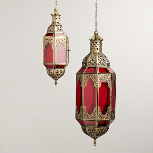 Red Latika Hanging Lantern