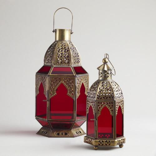Red Tabletop Lanterns