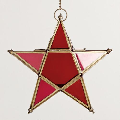Small Red Star Lantern