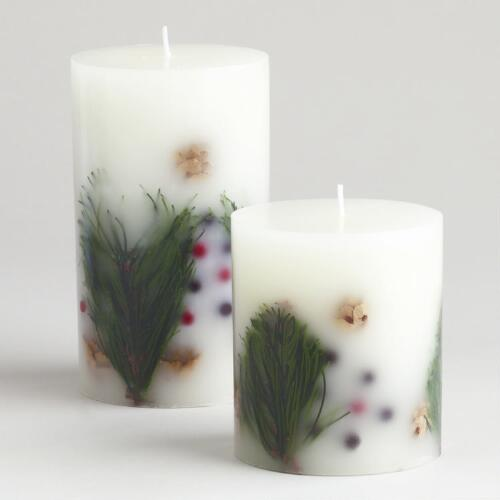 Embedded Christmas Pillar Candles