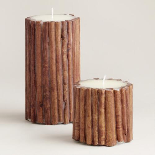 Cinnamon Sticks Pillar Candles