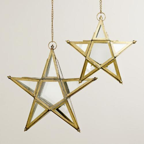 Embossed Trim Star Lantern