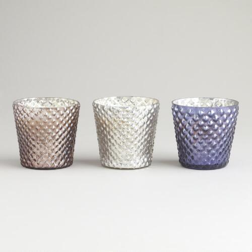 Mercury Glass Candle Pots