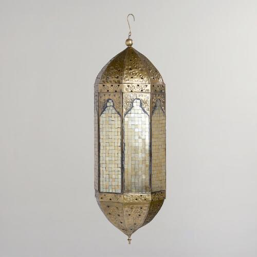Oversized Gold Mirrored Lantern