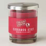 Cinnamon Red Ribbed Jar Candle