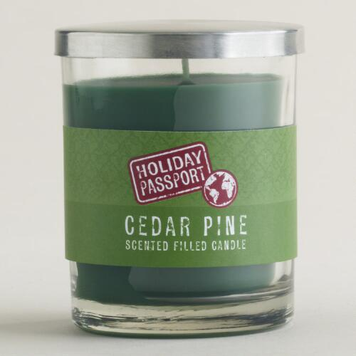 Pine Green Ribbed Jar Candle