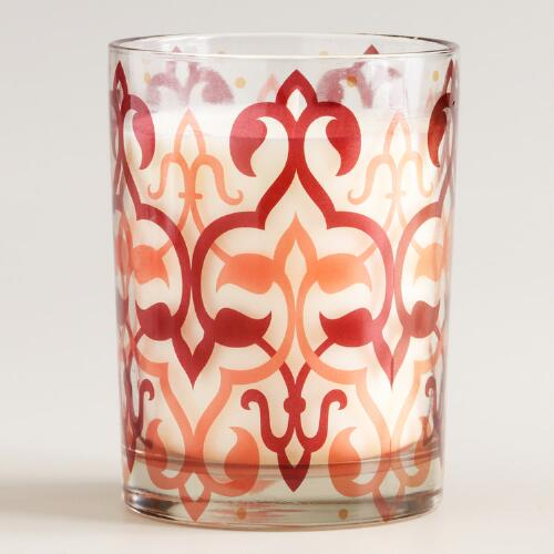 Peach Tea Ikat Tumbler Candle
