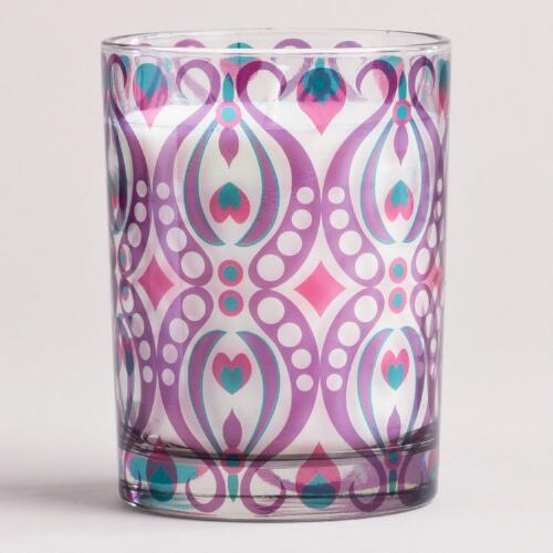 Passion Fruit Ikat Tumbler Candle