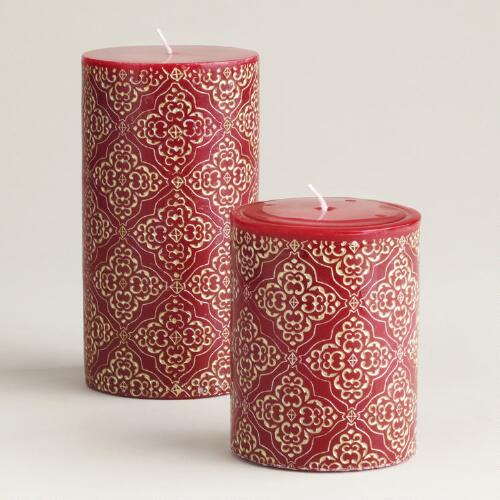 Medallion Pillar Candles