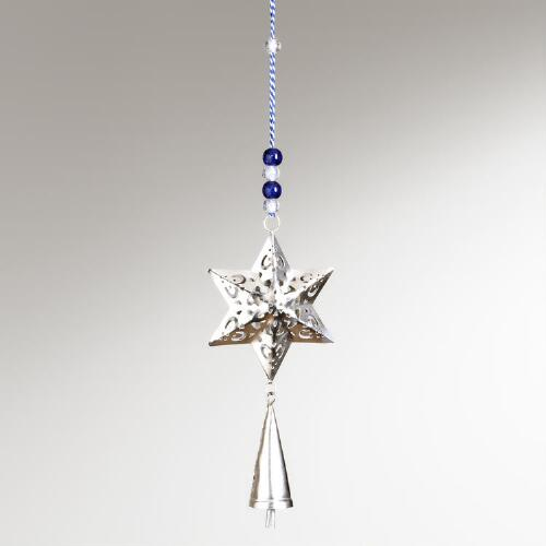 Star of David Décor With Bell