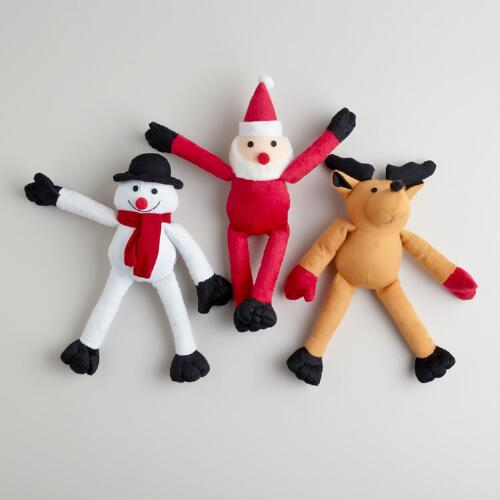 Christmas Squeaker Toys, Set of 3