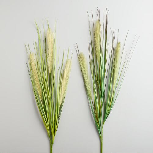 Plum Grass Sprays, Set of 2