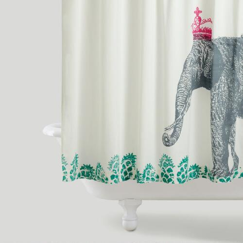 Crowned Elephant Shower Curtain