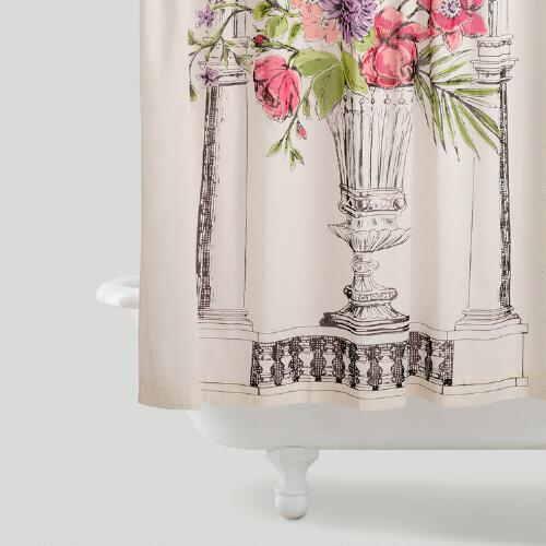 Amour Bouquet Shower Curtain
