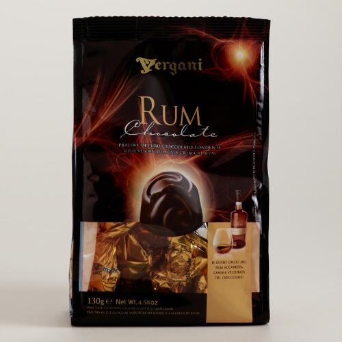 Vergani Rum Filled Dark Pralines