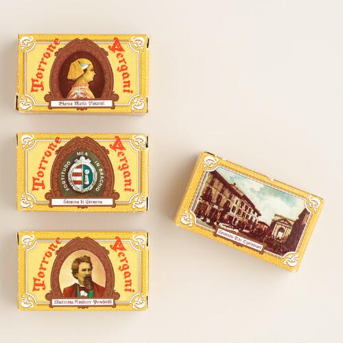Boxed Vergani Almond Nougats, Set of 6