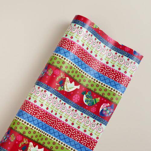 Jumbo Winter Stripe Alpine Gift Wrap