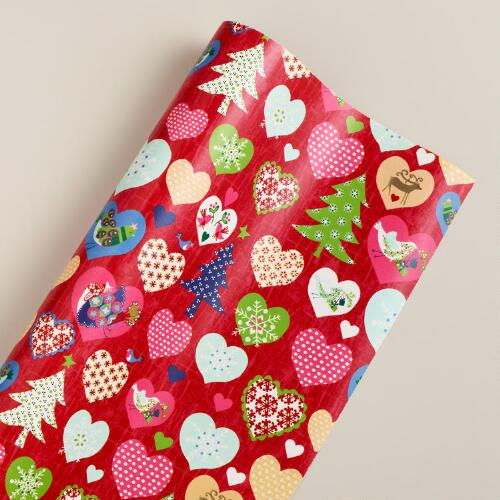 Hearts Alpine Gift Wrap Sheet
