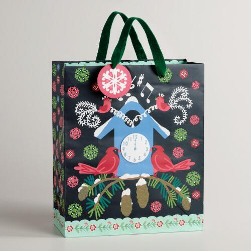 Large Cuckoo Clock Alpine Gift Bag