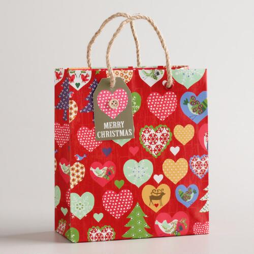 Small Hearts Alpine Gift Bag