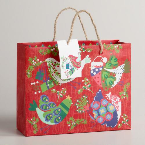 Medium Birds Alpine Gift Bag
