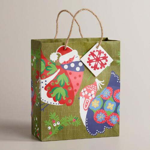 Medium Large Birds Alpine Gift Bag