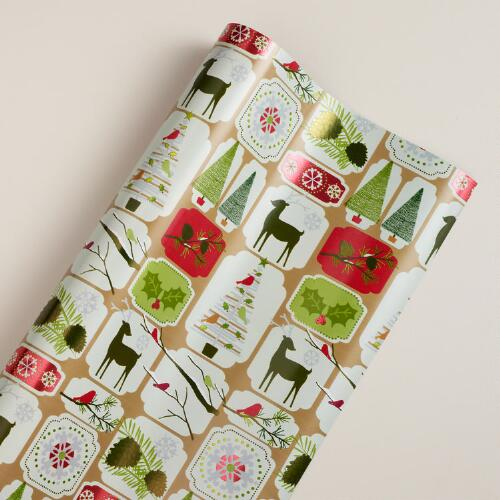 Christmas Squares Gift Wrap Sheet